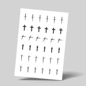 Temporäre Klebetattoos Fake Tattoos Kreuz Cross Crucis