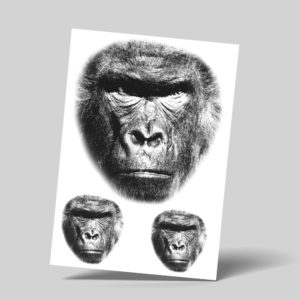 Temporäre Abziehtattoos Fake Tattoos Affe Gorilla